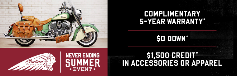 Indian Motorcycle Never Ending Summer Sales Event