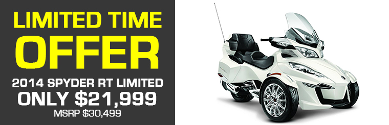 Can-Am spyder Rt Limited NOW ONLY $21,999