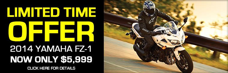 Yamaha FZ-1 Now Only $5,999