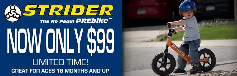 Strider Bikes on sale at BiG St. Charles Motorsports