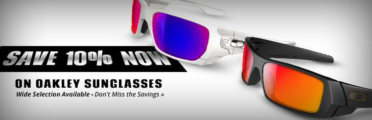 Save 10% now on Oakley sunglasses! Click here to print the coupon.