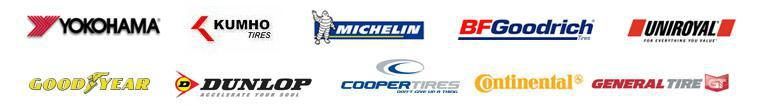We offer products from Michelin®, BFGoodrich®, Uniroyal®, Yokohama, Continental, Goodyear, Dunlop, Cooper, Kumho, and General.