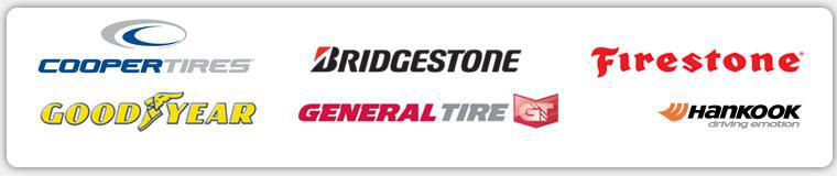 We carry products from Cooper, Bridgestone, Firestone, Goodyear, General, and Hankook.