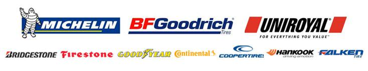 We proudly carry products by Michelin®, BFGoodrich®, Uniroyal®, Bridgestone, Firestone, Goodyear, Continental, Cooper, Hankook, and Falken.