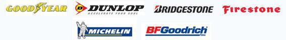 We carry products from Goodyear, Dunlop, Bridgestone, Firestone, Michelin, and BFGoodrich.