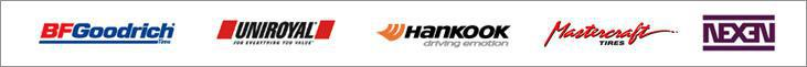 We are proud to carry products from Hankook, BFGoodrich®, Uniroyal®, Mastercraft and Nexen!