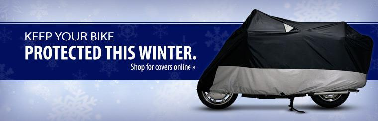 Keep your bike protected this winter. Shop for covers online.