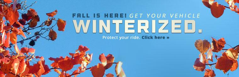 Get your vehicle winterized.