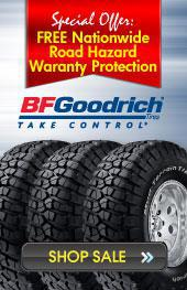 BFGoodrich: FREE Nationwide Road Hazard Warranty Protection