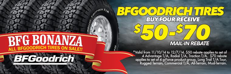 $20 Off BFGoodrich Tire Sale