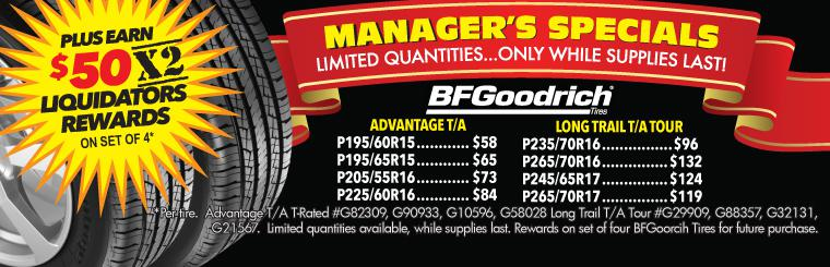 Manager's Special BFGoodrich Sale