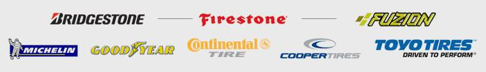 We carry the best from Bridgestone, Firestone, Fuzion, Michelin, Goodyear, Continental, Cooper,and Toyo.