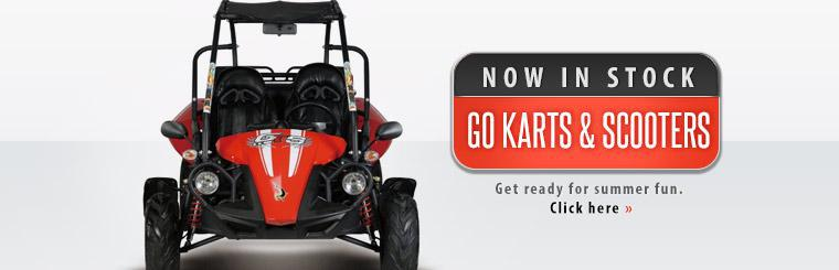 Go Karts and Scooters Now in Stock: Click here to contact us for details.