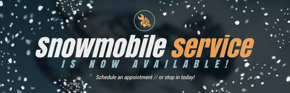 Snowmobile service is now available! Schedule an appointment or stop in today!