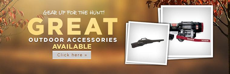Great Outdoor Accessories Available: Click here to shop online.