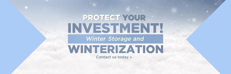 We offer winter storage and winterization! Contact us today for details.