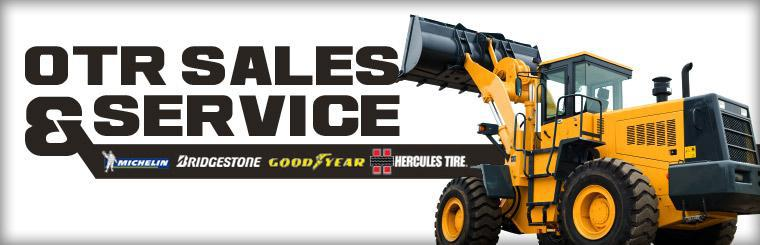We offer OTR sales and service. Click here to view tires.