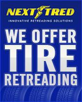We offer Tire Retreading.