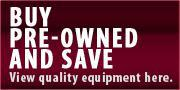 Buy pre-owned and save. View quality equipment here.