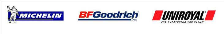 We carry products from Michelin®, BFGoodrich®, and Uniroyal®.