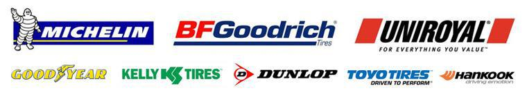 We offer products from Michelin®, BFGoodrich®, Uniroyal®, Goodyear, Kelly, Dunlop, Toyo and Hankook.