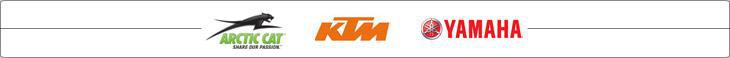 We carry products from Arctic Cat, KTM, and Yamaha.