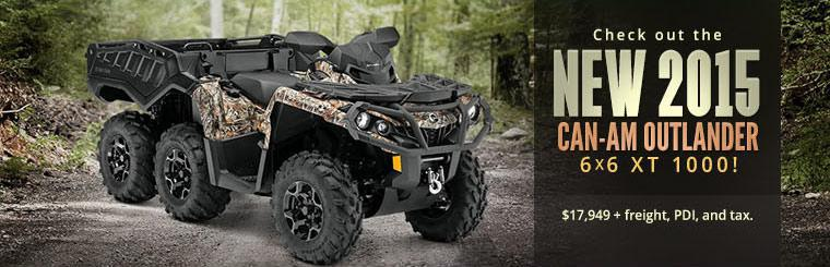 Check out the 2015 Can-Am Outlander 6x6 XT 1000!