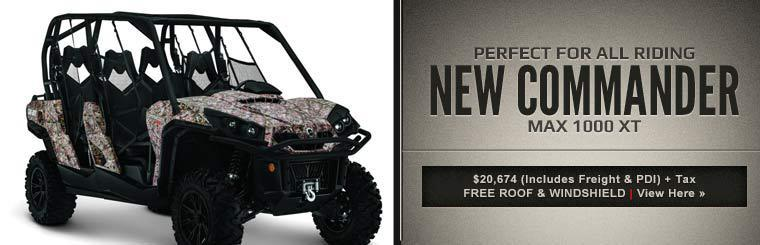 Click here to view the 2014 Can-Am Commander MAX 1000 XT™.