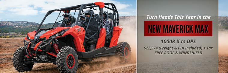 Click here to view the 2014 Can-Am Maverick MAX 1000R X rs DPS™.
