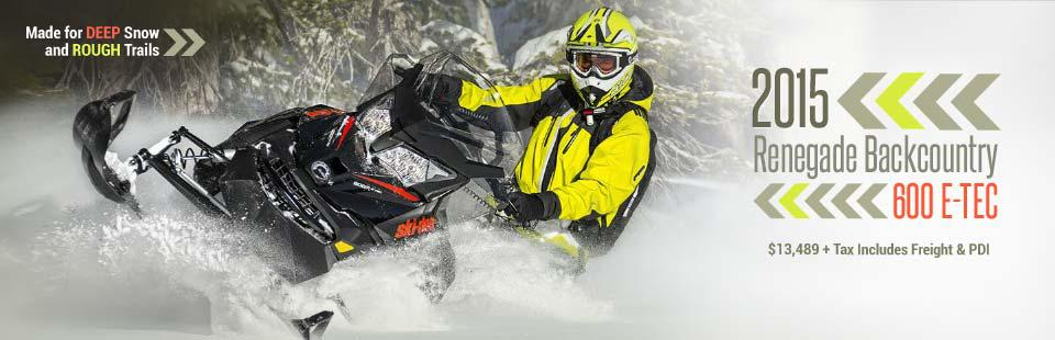 2015 Ski-Doo Renegade Backcountry 600 E-TEC: Click here to view the model.