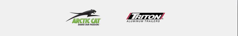We proudly carry products from Arctic Cat and Triton Trailers.