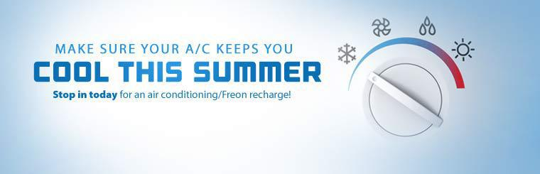 Stop in today for an air conditioning/Freon recharge!
