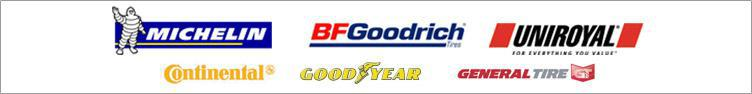 We carry great products from Michelin®, BFGoodrich®, Uniroyal®, Goodyear, Continental, and General Tire.