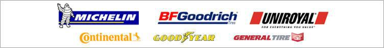 We carry great products from Michelin®, BFGoodrich®, Uniroyal®, Continental, Goodyear, and General Tire.