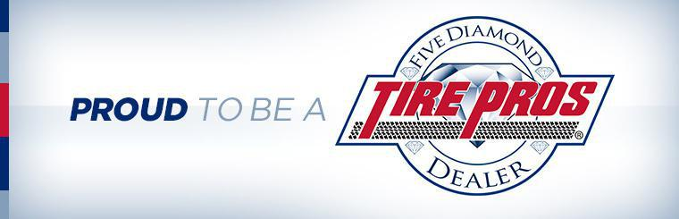 Proud to be a Five Diamond Tire Pros dealer.