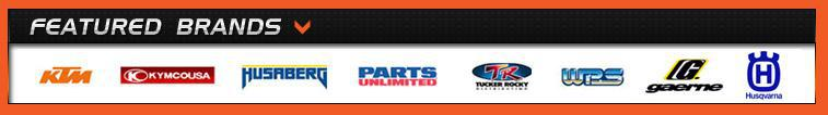 We proudly carry products from KTM, KYMCO, Husaberg, Parts Unlimited, Tucker Rocky, Western Power Sports, Gaerne, and Husqvarna.