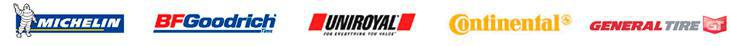 We offer great products by Michelin®, BFGoodrich®, Uniroyal®, Continental, and General.