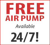 Free Air Pump Available 24/7
