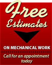 Free Estimates on Mechanical Work: Call for an appointment today!