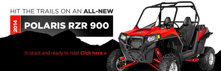 Hit the trails on an all-new 2014 Polaris RZR 900!