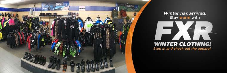 Winter has arrived. Stay warm with FXR winter clothing! Stop in and check out the apparel.