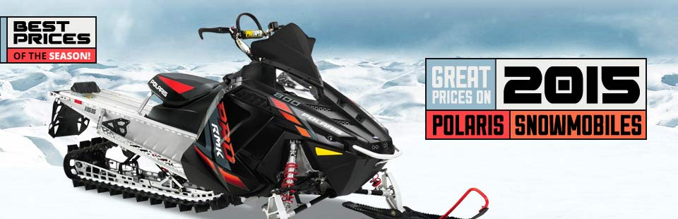 Great Prices on 2015 Polaris Snowmobiles: Click here to view the models.