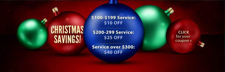 Christmas Savings: Click here for details.