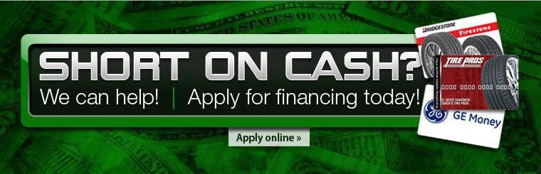 Short on Cash? We can help! Apply for financing today!