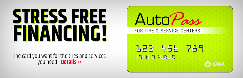 The Card you want for the tire & services you need