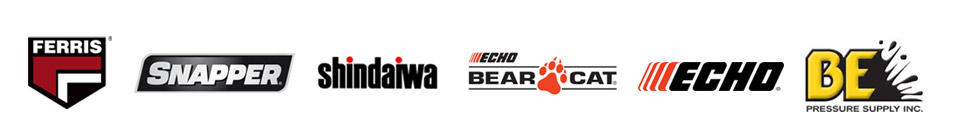 We carry products from Ferris, Snapper, Shindaiwa, ECHO Bear Cat, and BE Pressure.
