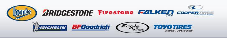 We carry products from Bandag, Bridgestone, Firestone, Falken, Cooper, Michelin, BFGoodrich, Eagle Alloys, and Toyo.