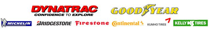 We proudly carry products from DynaTrac, Goodyear, Michelin®, Bridgestone, Firestone, Continental, Kumho, and Kelly.