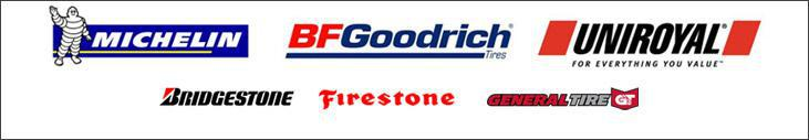 We carry products from Michelin®, BFGoodrich®, Uniroyal®, General, Bridgestone, and Firestone.