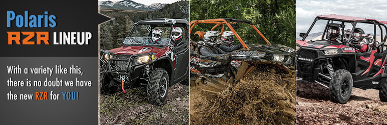 Work or play, we have the Polaris ATV for you! Click here to view our lineup.